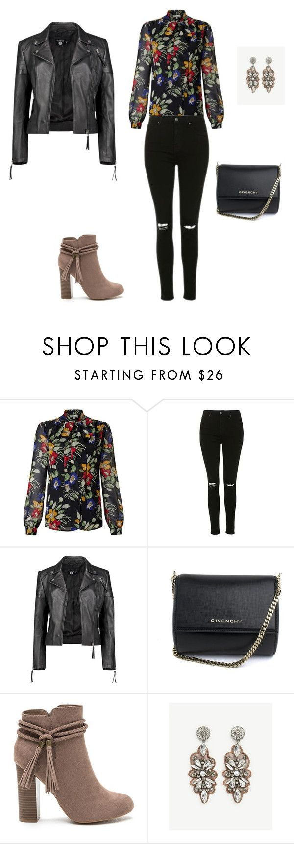 """Bez naslova #1070"" by dea-edita-77 ❤ liked on Polyvore featuring Somerset by Alice Temperley, Topshop, Boohoo, Givenchy and Ann Taylor"