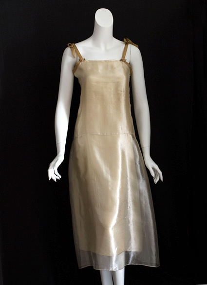 Metallic silver mesh slip, 1920s, from the Vintage Textile archives.  Imagine this as a wedding dress!