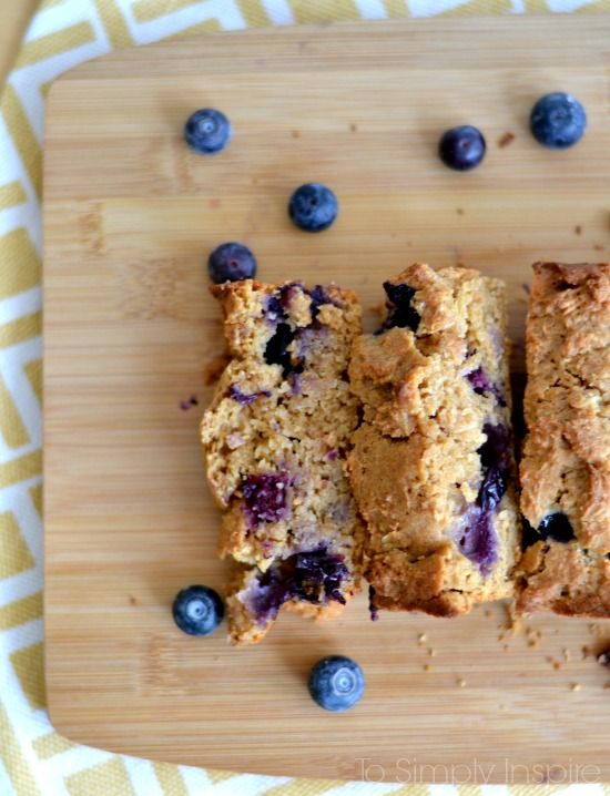 This blueberry oatmeal bread recipe is simple, healthy goodness. So moist and loaded with blueberries, it's a wonderful breakfast or snack choice. | http://www.ToSimplyInspire.com