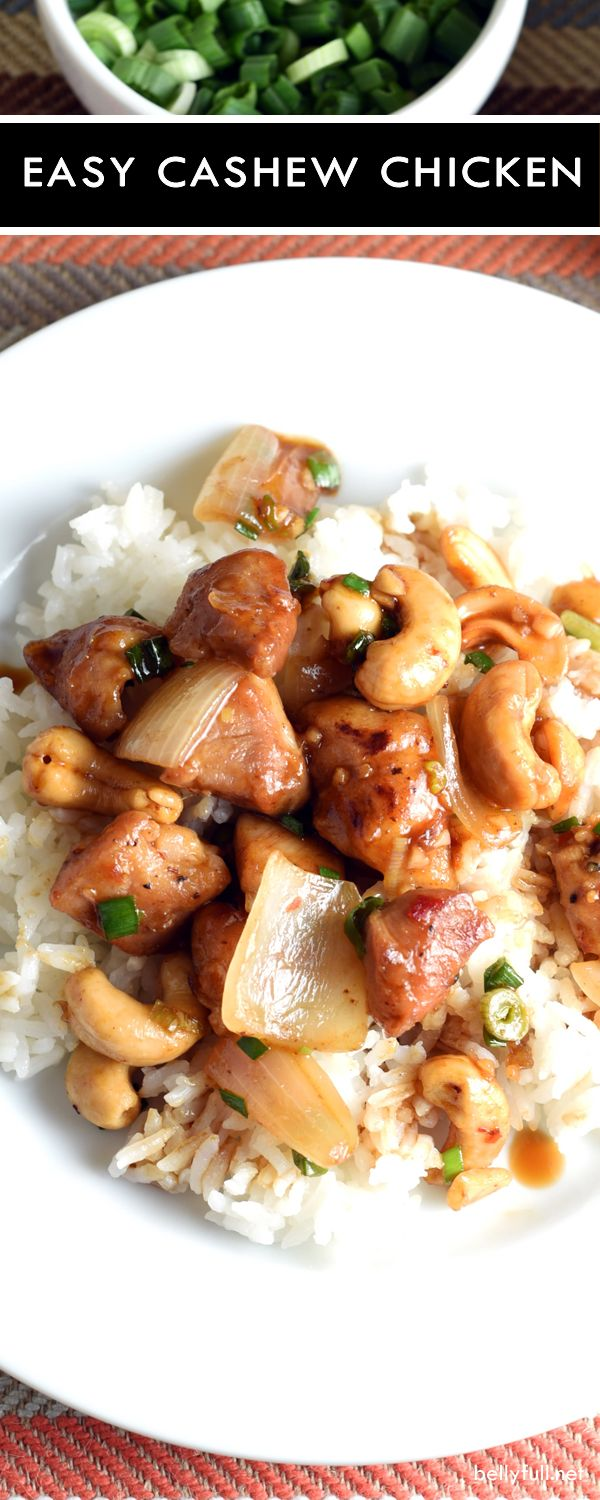 Forget the takeout and cook in with this super easy Chinese-American dish, Easy Cashew Chicken. It's simple, flavorful, and also great the next day if you have any left over.