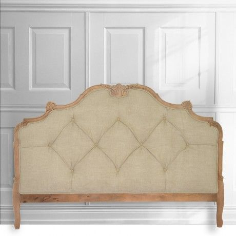 FRANKLIN natural linen upholstered headboards from MOLLYSHOME.COM for a luxurious bedroom feel.