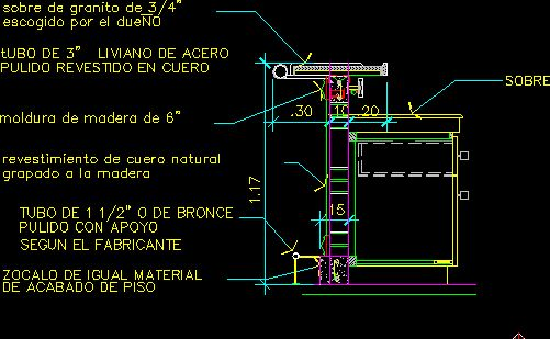 Bar furniture section in autocad drawing bibliocad