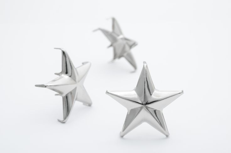 stud - Star Large | StudsandSpikes.com ☆ Single - $0.48 ☆ Bag of 25 - $7.50 ☆ Bag of 100 - $25.20