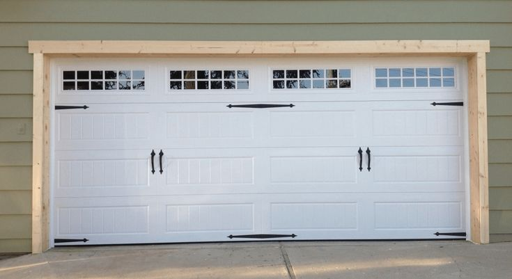 Wooden garage door frame