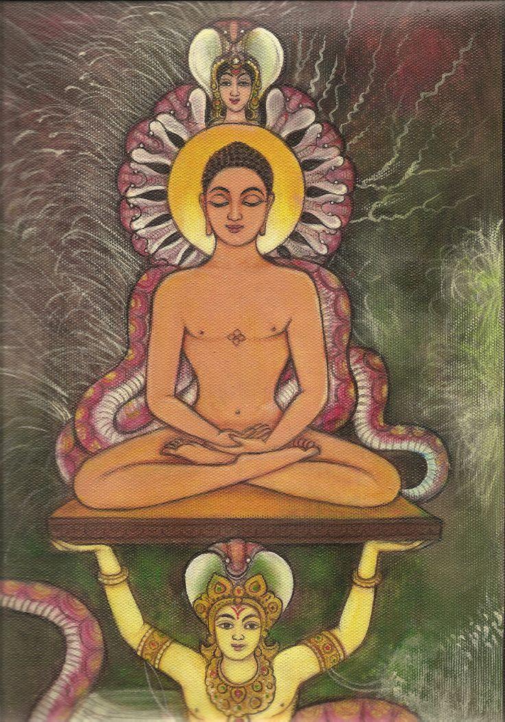 Mahaveer Swami Jain Art Jainism Religious Handmade Watercolor ...
