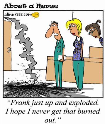 Cartoon: Burned out nurse