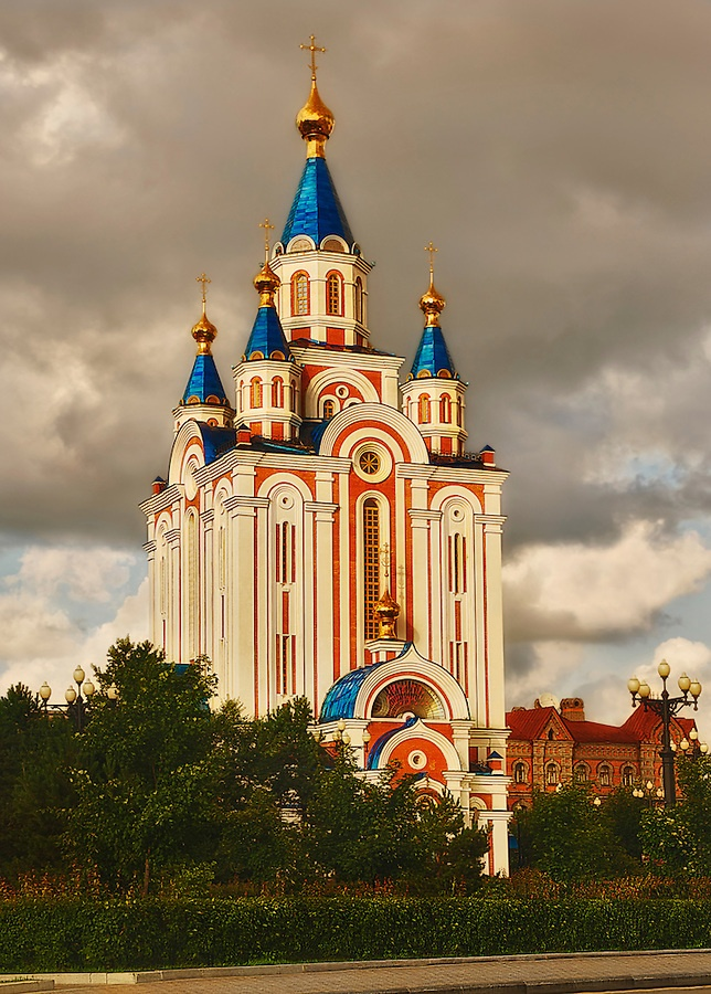 Re-built Russian Orthodox Cathedral; Khabarovsk, Russian Federation
