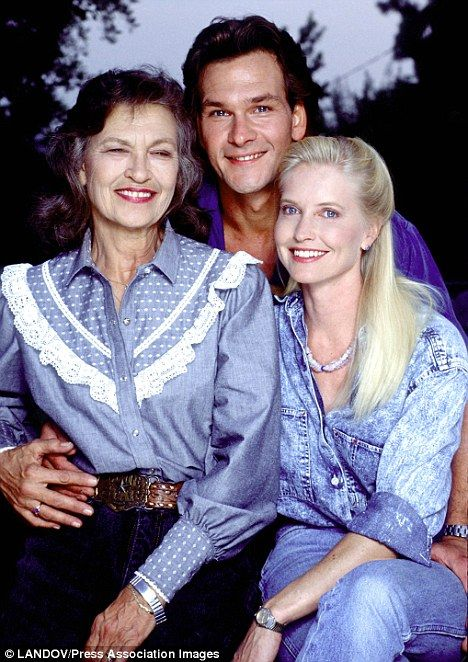 Patrick Swayze Mom and Dad | Tragic: Patrick, pictured with Patsy and his wife Lisa in 1999, died ...
