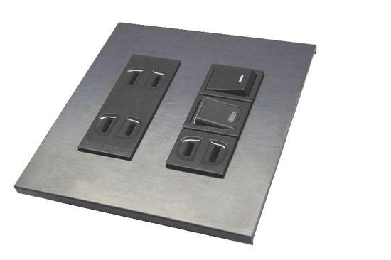 黒皮鉄のスイッチプレート 1穴