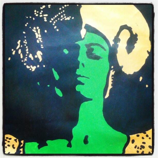 "@slinky_sleer's photo: ""#painting  #green #steele #cornwall #thewickerbitch"""