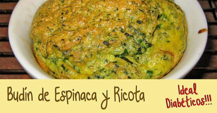 Budin de Espinaca y Ricota