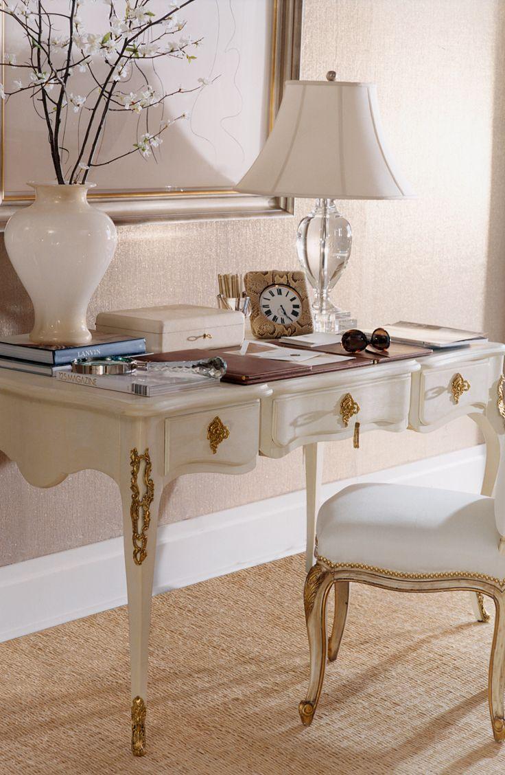 For A Feminine Office, Ralph Lauren Homeu0027s French Regency Style, Cannes Desk Part 85