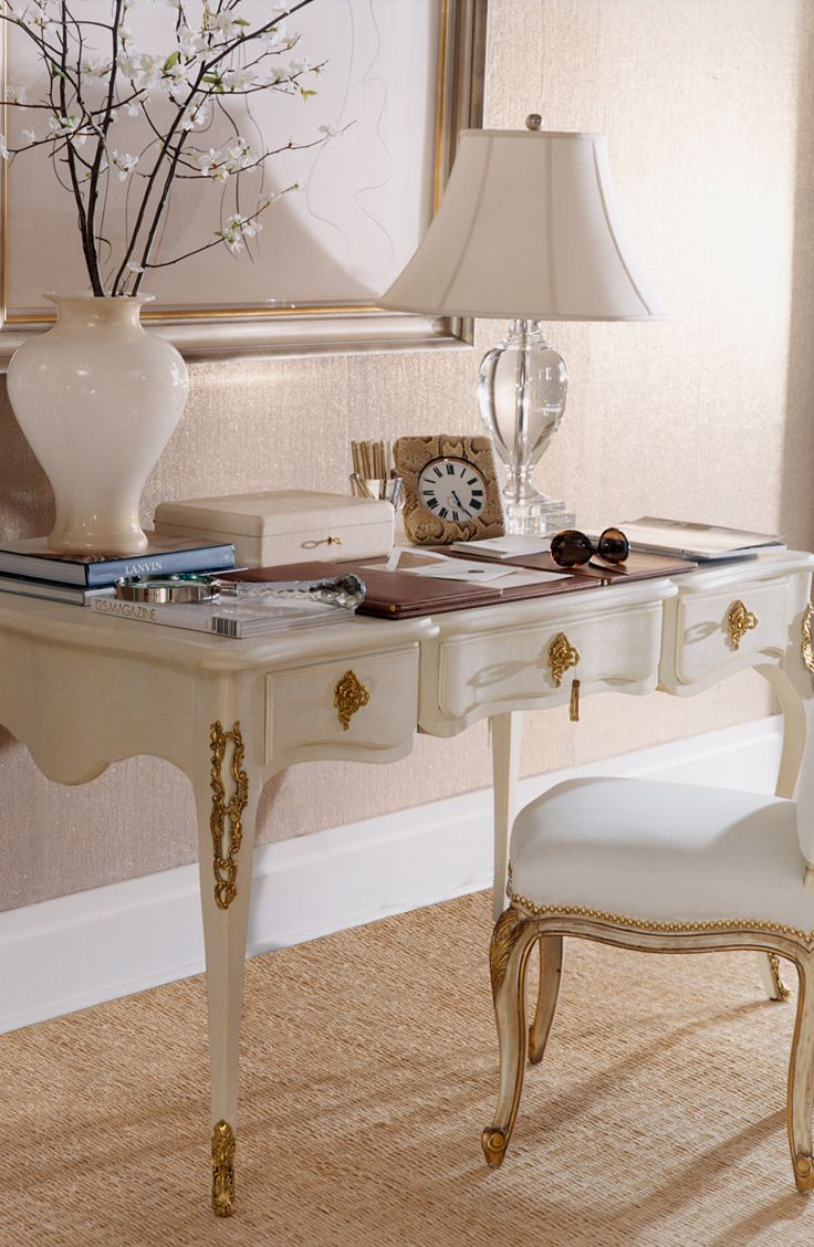 For a feminine office Ralph Lauren Homes French Regency style Cannes Desk