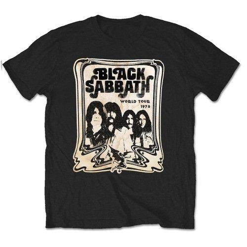 Black Sabbath Mens T-Shirt World Tour 78 HMV Exclusive – Famous Rock Shop