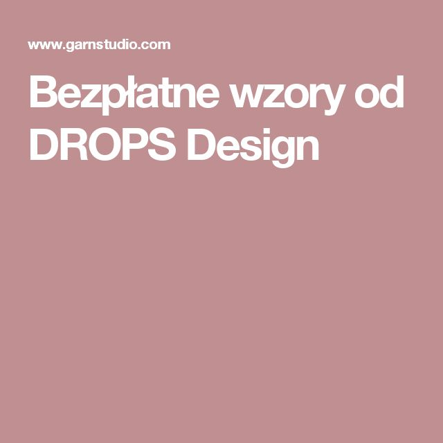 Bezpłatne wzory od DROPS Design