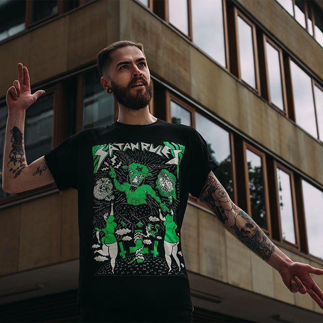 "CRMC X @russelltaysom ""Satan Rules"" Tee Available at www.crmcclothing.co   WE SHIP WORLDWIDE Model - @jordanjcthomas Photography - @jt14photography #alt #altwear #altfashion #altstyle #alternative #alternativefashion #alternativestyle #fashionstatement #instagood #dope #instalike #picoftheday #satan #baphomet #darkwear #blackwear #fashionblog #fashion #crmcclothing #instastyle #satanrules #fashionblogger"