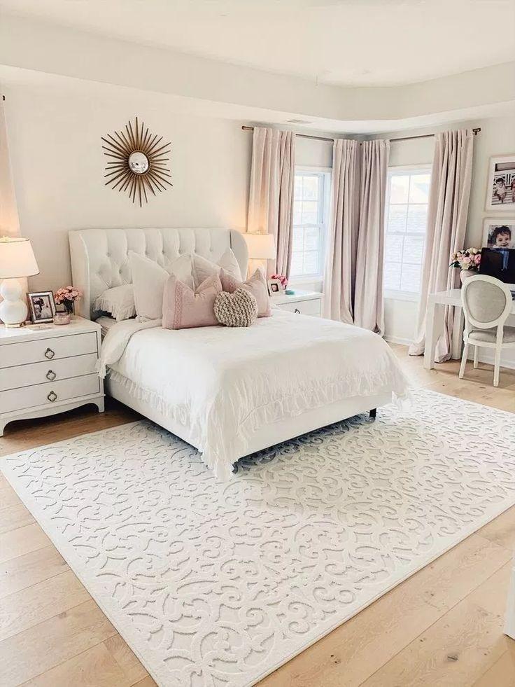 44 romantische Ideen für die Renovierung des Hauptschlafzimmers 17