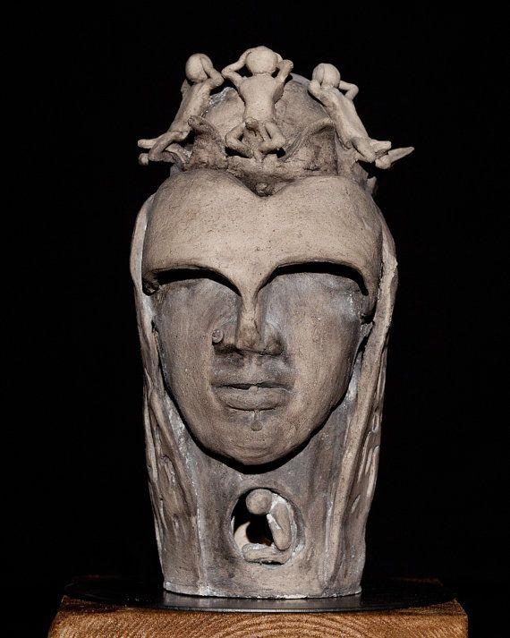 Handmade Unique Shamot Clay Ceramic Art by Artgalleryraka on Etsy