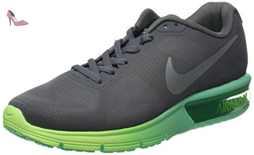 NIKE Wmns Air Max Sequent Laufschuhe, Chaussures de Running Compétition Femme, Gris (Cool Grau/Metallic Silber/Geisterhaftes Grün/Grünes Glühen), 40 EU - Chaussures nike (*Partner-Link)