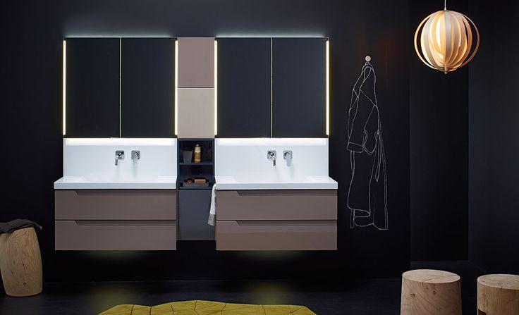 #marron #brown #salledebain #bathroom #conceptwall #Burgbad #meubles #meublessalledebain #lavabo