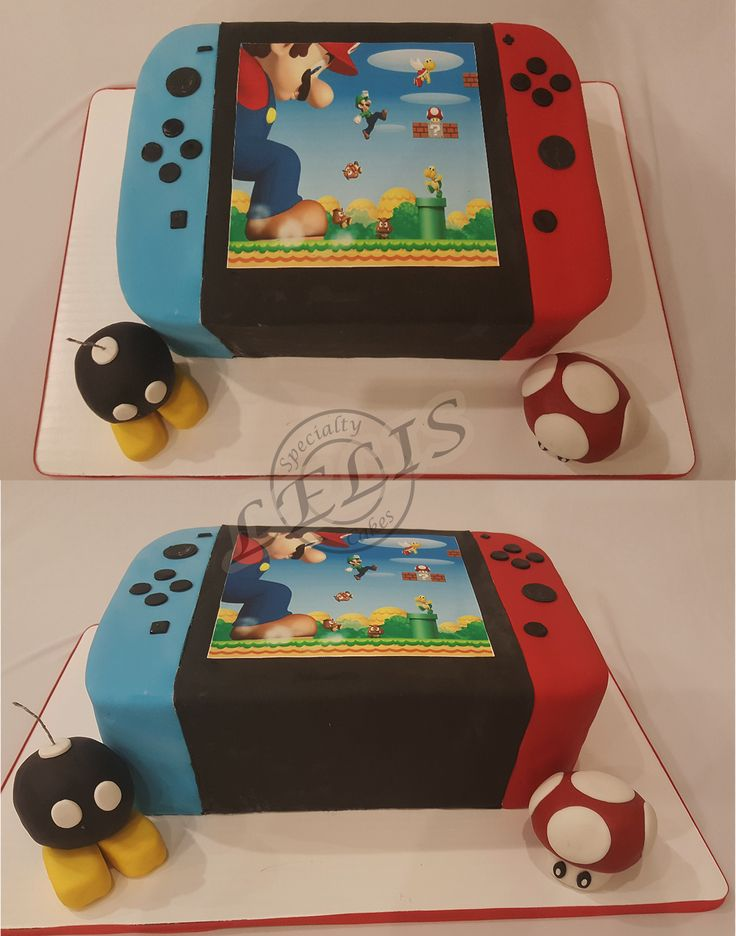 Nintendo Switch with edible bomb and mushroom…bomb is also a candle