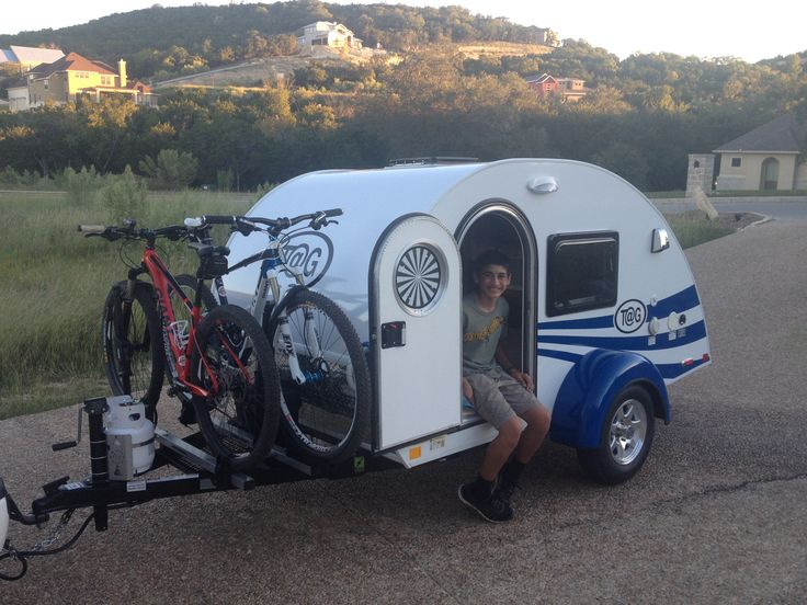 little guy camper towing bikes - Google Search