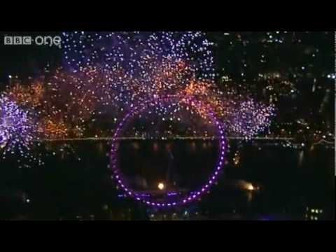 London Fireworks on New Year's Day 2010 - New Year Live - BBC One...and we were there.....