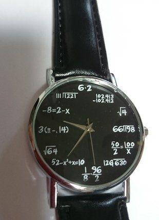 Kup mój przedmiot na #vintedpl http://www.vinted.pl/akcesoria/bizuteria/15080753-nowy-zegarek-z-motywem-matematycznym-polecam