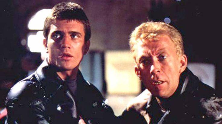 Mel Gibson as Max Rockatansky & Steve Bisley as Jim Goose in #MadMax (1979).