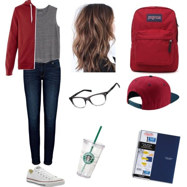 tomboy outfit for school by bulldoggrl on Polyvore featuring polyvore fashion style MANGO Dsquared2 Anine Bing Converse JanSport NIKE