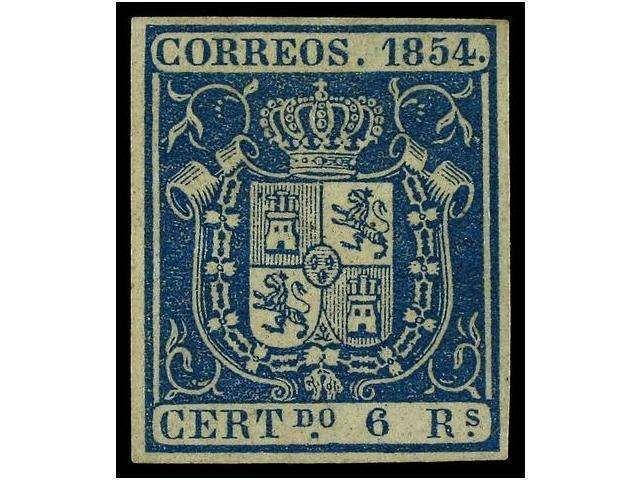 ESPAÑA PIEZA DE LUJO -1854