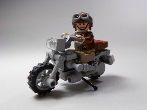 Lego Tutorial: How to Build a WW2 era Motorcycle - YouTube