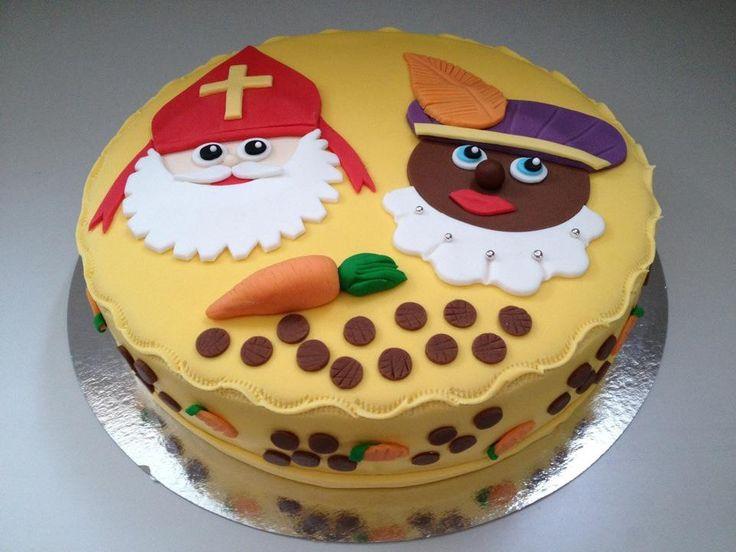 Taart Sinterklaas / cake / fondant / Zwarte Piet