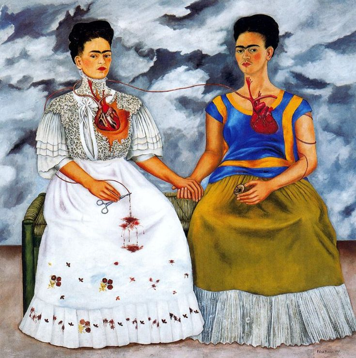 #LGLimitlessDesign & #Contest  The Two Fridas by Frida Kahlo (1939)  self portrait
