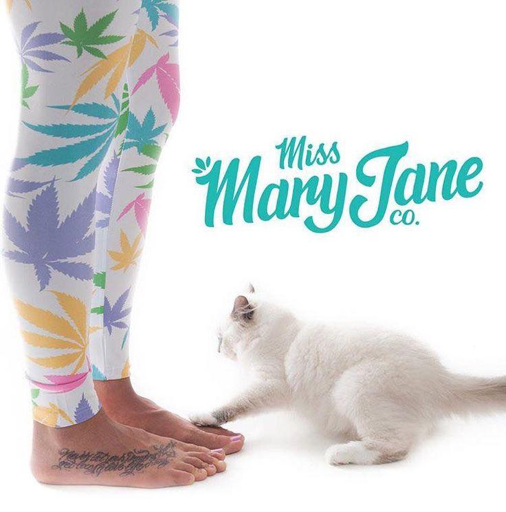 Kitties & Kush.  Bubblegum kush #weedleafleggings are now available on MMJco.com! #missmaryjane #missmaryjanegirls #missmaryjaneco #mmjco #leggings #weedwear #kittiesandkush