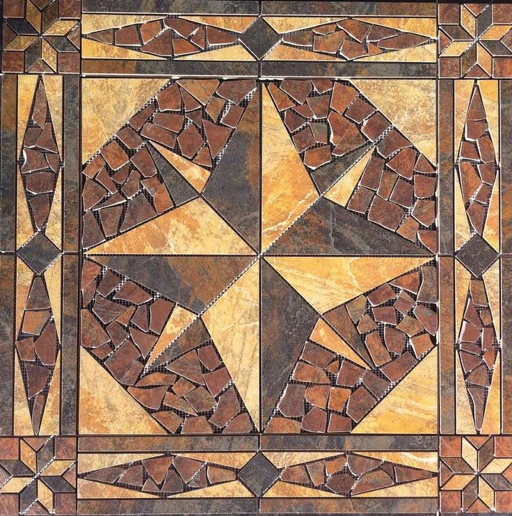 "32"" Tile Medallion mosaic accent - Marazzi Imperial Slate ..."