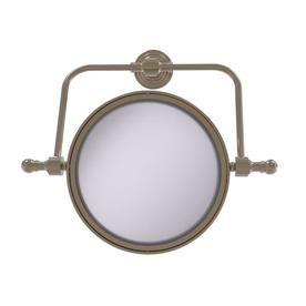 Allied Brass Retro Wave Collection Wall Mounted Swivel Make-Up Mirror 8-In Diame…