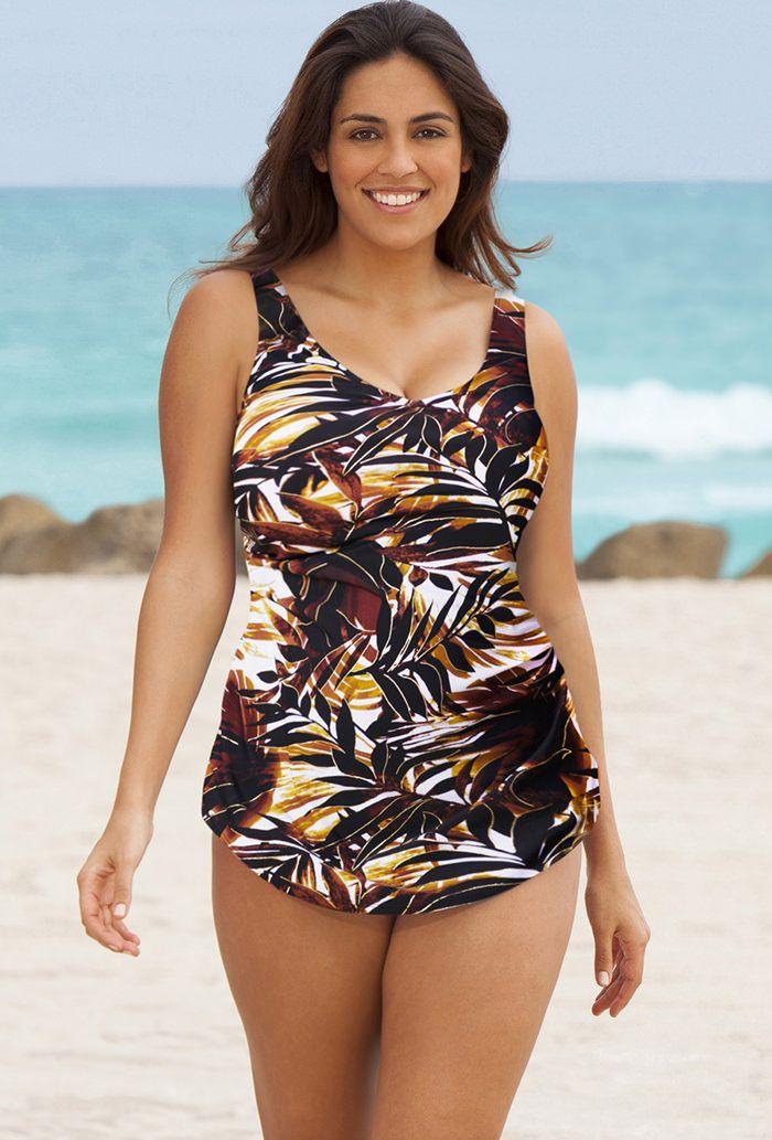 Beach Belle Desert Palm Plus Size Sarong