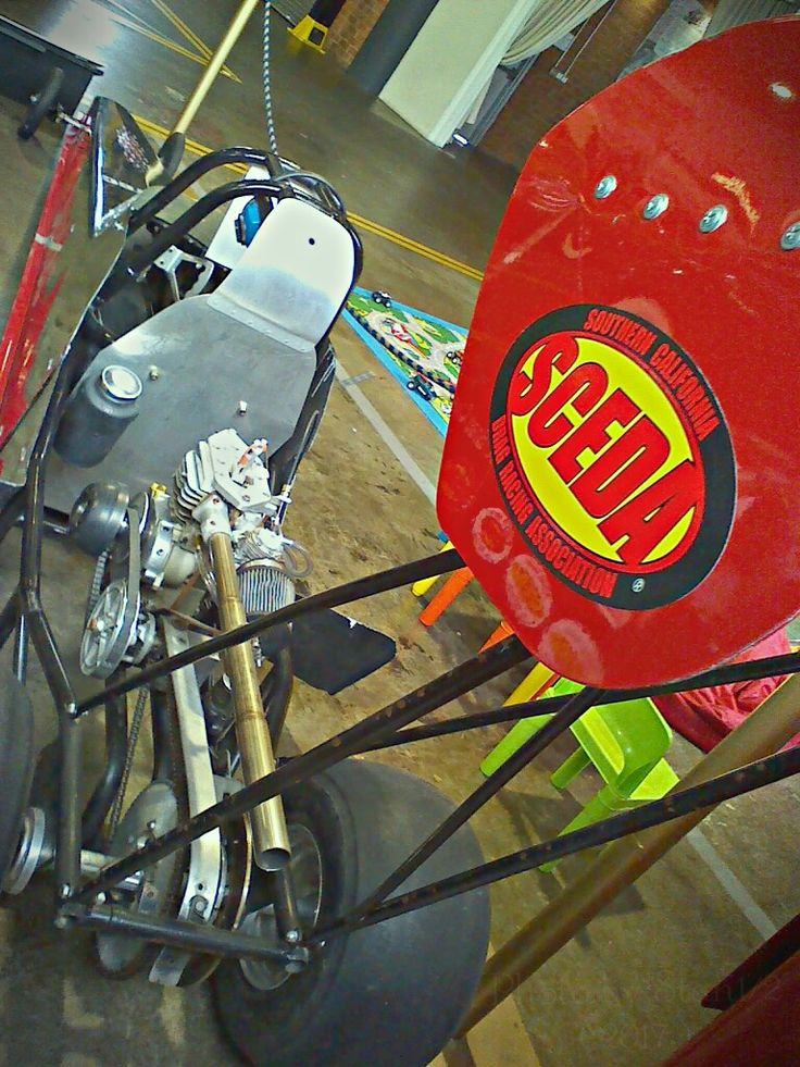 Back view of a Jr dragster