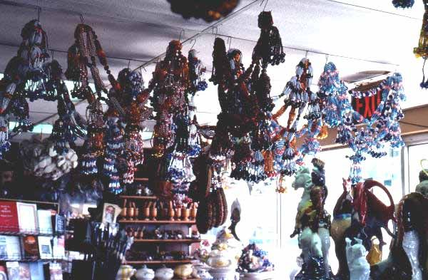 Florida Memory - Colorful Santeria bead objects in Little Havana - Miami, Florida