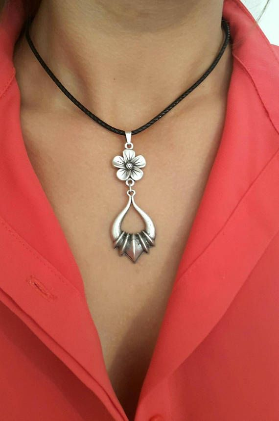 Silver Jewelry Bohemian Statement Necklace Boho Necklace