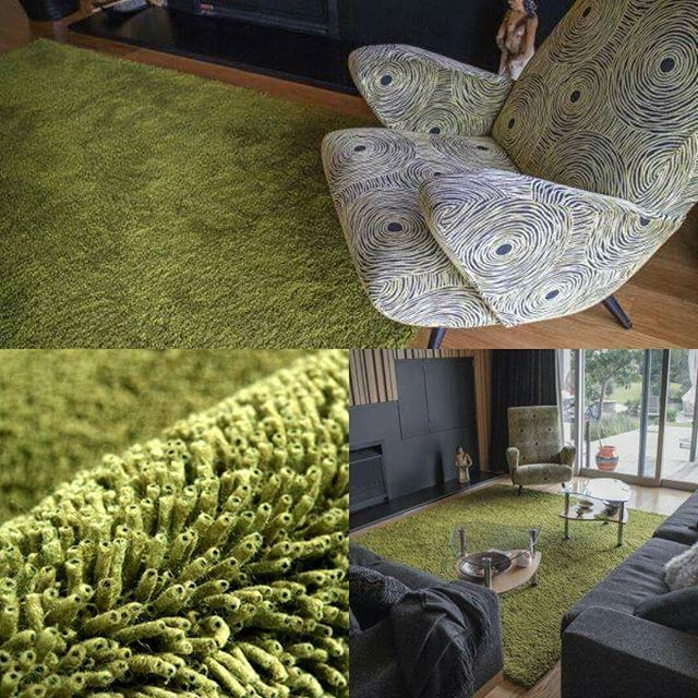 This green Coral textured rug enhances the indoor-outdoor connection in this rural living in Sandspit. #texturedrug #texture #coral #greens #greenrug #texturedcollection