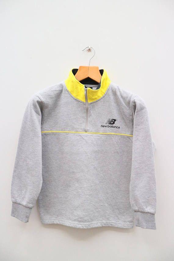 644308492814a Vintage NEW BALANCE Small Logo Sportswear Gray Sweater | Vintage ...