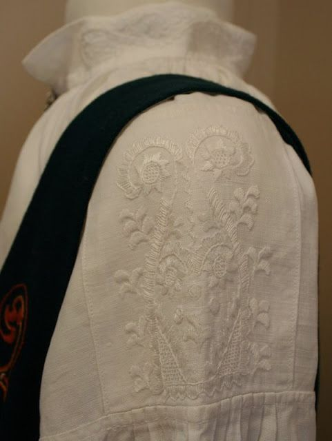 FolkCostume&Embroidery: Search results for norwegian costumes. Kvikne Bunad with embroidery, or Kvikne Church Bunad