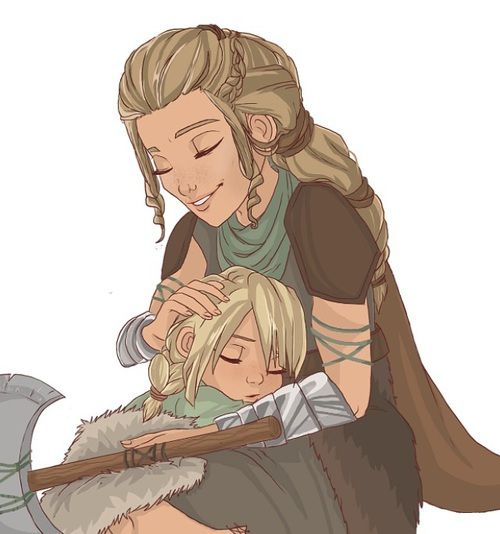 Astrid and her mother