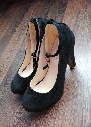 Kup mój przedmiot na #vintedpl http://www.vinted.pl/damskie-obuwie/na-wysokim-obcasie/15253493-37-240-mm-buty-na-obcasie-nowe-szpilki-slupek-z-paskiem-czolenka