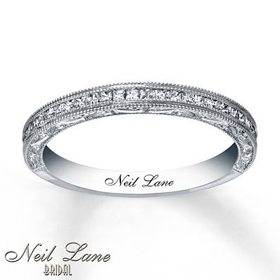 Neil Lane Wedding Band 3/8 ct tw Diamonds 14K White Gold..... LOVE, LOVE, LOVE this