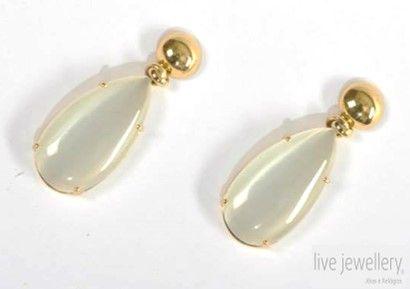 Ref:.BR.114791  Brincos em prata dourada, com pedras hidrotermais. Comprimento: 4 cm  Earings in golden silver, with hydrothermal stones. High: 4 cm