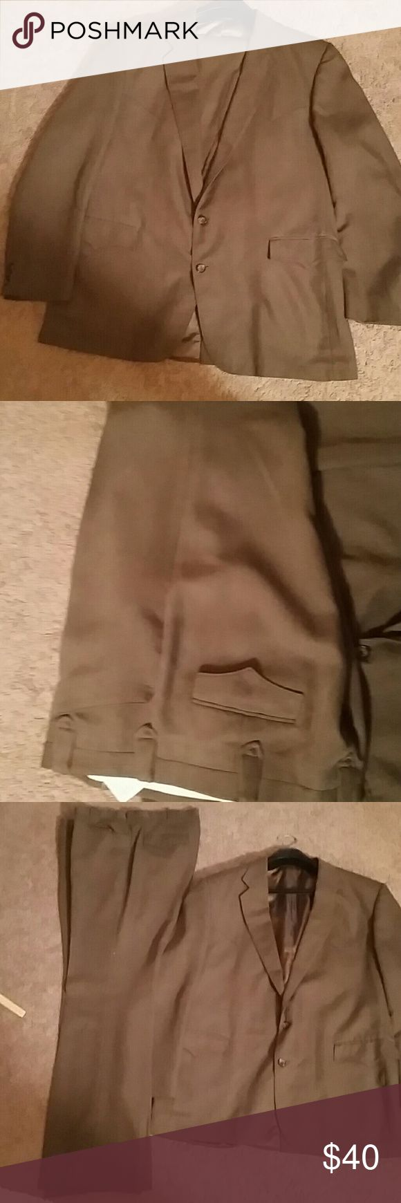 Men's brown suit Blazer 48L slacks 40in Men's Brown suit Blazer is lined slacks are 40 waist matching Blazer is 48 long really nice suit no rips no stains no tears made in Dallas Texas Circle S Suits & Blazers Suits