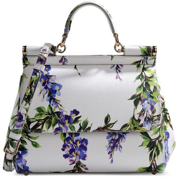 Dolce & Gabbana Medium Leather Bag ($1,135) found on Polyvore featuring bags, handbags, shoulder bags, purses, bolsas, borse, white, genuine leather purse, white handbags and white leather purse